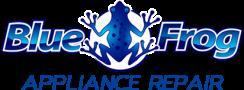 blue frog appliance logo