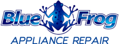 blue frog appliance logo