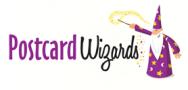 postcard wizards logo