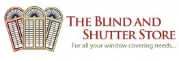 the blind and shutter store logo